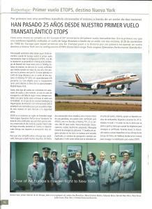 PRIMER VUELO DE AIR EUROPA CON BOEING 757 A NEW YORK