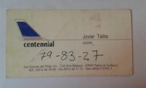 TARJETA VISITA SR TAIBO